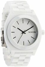 Nixon Ceramic Time Teller  A250 100 White Band & Dial Watch