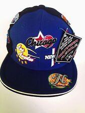 Street Basketball Cap Multiform Blue/Black Fitted Men Size 7 3/8-7 5/8 Acrylic
