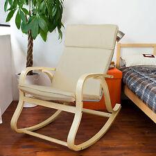 Sobuy Fauteuil À bascule Rocking Chair Chaise longue Fst15/16/18/25 FR Fst15-w
