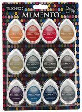 TSUKINEKO Memento Dew Drop Dye Ink Pads  12/Pkg - Snow Cones MD-012-300 R