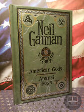 NEW SEALED Neil Gaiman American Gods / Anansi Boys Leather OUT OF PRINT