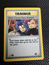 Pokemon Card Here Comes Team Rocket 15/82 Team Rocket Set 1st Edition Holo NM