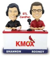 St Louis Cardinals KMOX Dual John Rooney Mike Shannon BOBBLEHEAD SGA 9/5 New