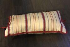 Ralph Lauren Chaps Home Casablanca Throw pillow new Stripe Bolster neck roll