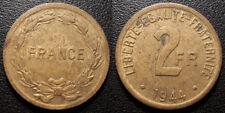 France - seconde guerre mondiale - 2 Francs 1944, Philadelphie - F.271/1
