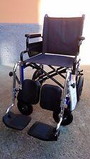 Sedia a rotelle pieghevole da transito con pedane elevabili-Disabili e Anziani