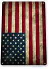 American Flag Tin Sign, Patriotic Sign, Flag Wall Art Tinworld Metal Sign A212