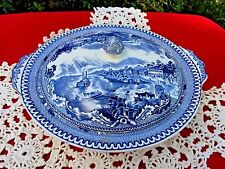 Johnson Brothers Blue WIllow AMERICA St Louis Kansas City Covered Vegetable Bowl