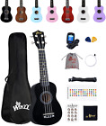 Winzz Soprano Ukulele Starter Kit For Beginners with Bag, Clip-On Tuner, Extra for sale