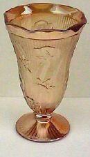 Iridescent / Carnival Iris and Herringbone Vase