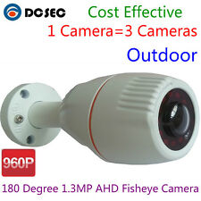 960P AHD Camera 180 Degree Wide Angle viewer CCTV Outdoor Security System Home