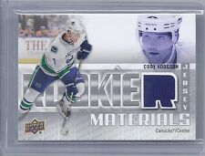 2011-12 UPPER DECK CODY HODGSON ROOKIE MATERIALS JERSEY RM-CH VANCOUVER CANUCKS