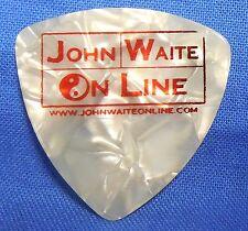 John Waite Online Hofner Guitar Pick White Pearloid Heavy Gauge