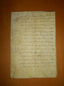 1644 vellum document 20 pages 17thC antique french manuscript Normandy parchment