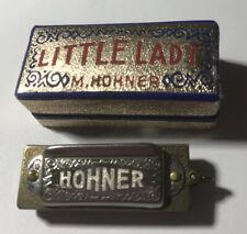 "Vintage German 4-Note HOHNER ""LITTLE LADY"" HARMONICA w/Original Box 1-1/2"" Charm"