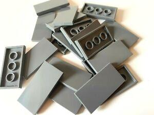 LEGO ®  20 Fliesen 2x4 in  dunkelgrau ( dark bluish gray ) , NEUWARE
