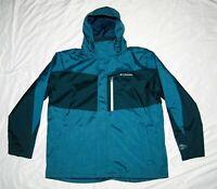 Columbia Omni-Heat Omni-Tec Waterproof Jacket Coat Blue Green Men's NWOT