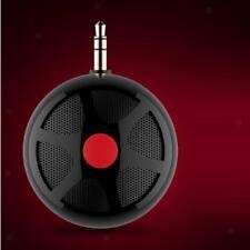 3.5mm Mini Ball Shaped Portable Capsule Speaker for PC Cell Phone HTC Black