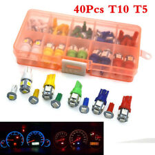 40Pcs T10 T5 5050SMD Car Instrument Cluster Light Mixed Dashboard Led Light Bulb