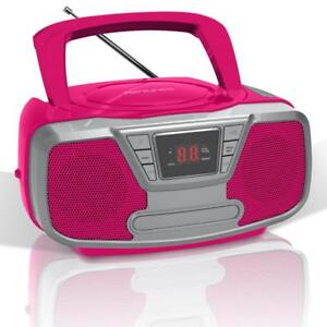 Impecca CDB-232BTP Riptunes Cd Boombox With Bluetooth, Pink (cdb232btp)