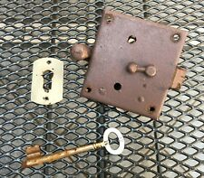 Altes Türschloss # 50er Jahre [?] # mit Schlüssel # lackiert # angerostet