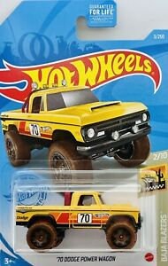 2021 Hot Wheels Yellow 1970 Dodge Power Wagon Baja Blazers 2/10 Card # 3/250