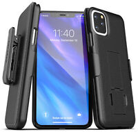 iPhone 11 / 11 Pro Max Belt Clip Case Ultra Slim Cover with Holster (Black)