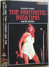 FANTASTIC IKE & TINA TURNER 1969 RARE UK cassette SUNSET paper labels TESTED Ex!