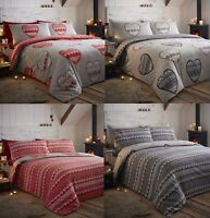 Boden 100% Brushed Cotton/Flannelette Quilt Cover Sets,Keep Warm All Night Long