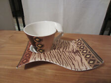 VILLEROY & BOCH *NEW* AMBOSELI Set tasse + plateau V&B Cup NEW WAVE CAFFE