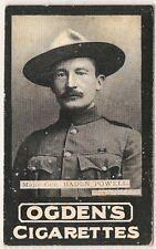 Ogdens (SYDNEY), General Interest (TABS Type), MAJ BADEN-POWELL, #193, VG, 1901