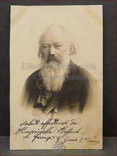 JOHANNES BRAHMS Compositore Musica Primi '900 (1905) Cartolina Viaggiata
