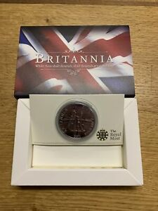 BOXED RM 2011 FINE SILVER ONE OUNCE BRITANNIA  COIN WITH CAPSULE + CERT