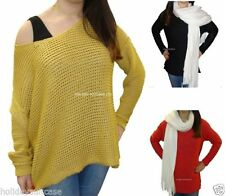Plus Size Medium Knit Acrylic Jumpers & Cardigans for Women