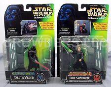 Star Wars PotF Electronic Power FX DARTH VADER & LUKE SKYWALKER Kenner '96 NIP