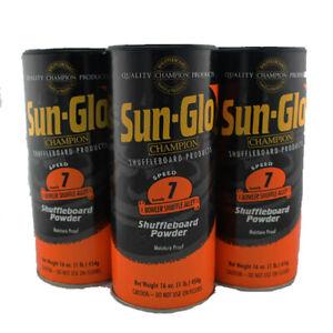Sun Glo Shuffleboard  powder / wax - 7 speed - 3 pack