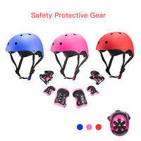 7Pcs Kids Sports Protective Gear Set Safety Pad Helmet Knee Elbow Wrist for Bike