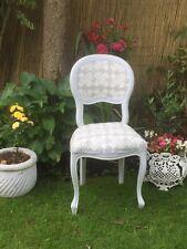 Shabby  Chic chair in Laura Ashley Greenwich Steel* Fabric