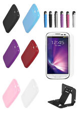 TPU Solid Silicone Gel  Soft Case Cover For Galaxy S3 (free stylus screen stand)