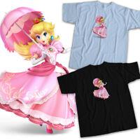 Super Smash Bros Ultimate Mario Princess Peach Kawaii Fighter Unisex Tee T-Shirt