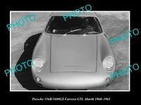 OLD LARGE HISTORIC PHOTO OF 1960 PORSCHE 356B CARRERA GTL LAUNCH PRESS PHOTO 1
