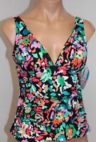NWT Swim Solutions Swimsuit Bikini Tankini Top Size 18 Shirred Tankini