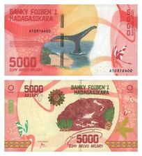 Unc 5000 Ariary Banknote Madagascar 2017 Malagasy note paper money P102 P-102