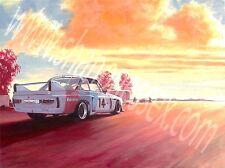BMW E9 CSL Race Car artwork. Limited print run of IMSA  'TBL' race car.