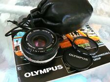 OLYMPUS ZUIKO 40MM F2 LENS W/CASE & FILTER *SUPER HARD-TO-FIND IN THE USA *MINT!