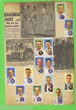 #T33. AUSTRALIAN 1930s CRICKET CARDS & NEWSPAPER CUTOUTS - BRADMAN