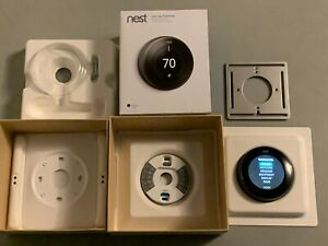 Nest 3rd Generation Learning Black Programmable Thermostat T3016US In Box Nice!