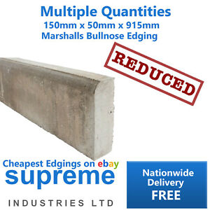 Bullnose Path Edging Concrete Marshalls 150x50x915mm FREE DELIVERY NATIONWIDE