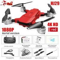 Red Quadcopter Drone 1080P HD WIFI FPV Camera High Altitude Hold Foldable XMAS