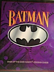 Saga of the Dark Knight  Batman Trading Cards ORIGINAL BINDER